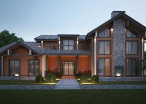 Designing building facades for commercial establishments and private houses, cottages, cottages. Profi Stroy