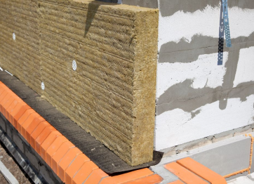 Wall insulation from aerated concrete with mineral wool. Profi Stroy