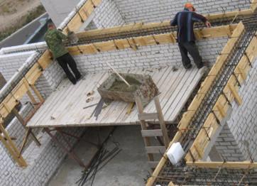 Заказать монолитный бетонный Армопояс нанять строителей цена монтажа в Херсоне и Николаеве
