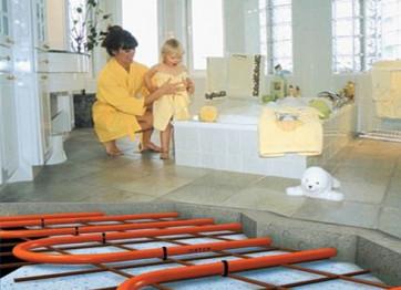 Order installation of a warm water floor