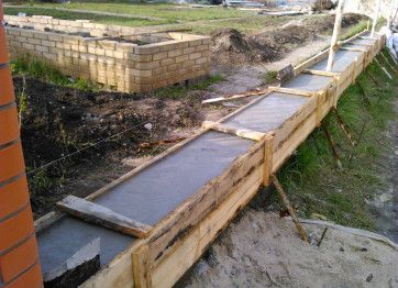 Construction of the foundation for the fence in Kherson. Profi Stroy