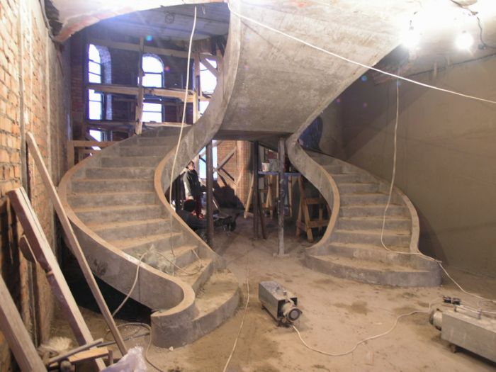 красивые лестницы бетонные в ХЕРСОНЕ НИКОЛАЕВЕ ПРОФИ СТРОЙ постройка